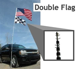 14' Telescoping Flag Pole and Stand